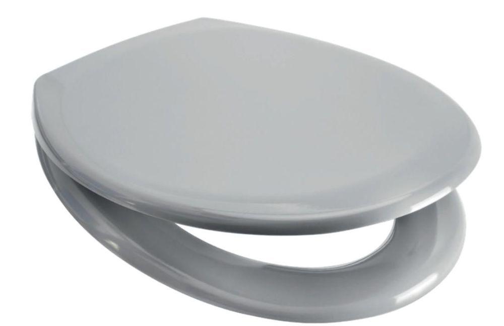 Euroshowers Light Grey Slow Close Quick Release Toilet Seat - Rainbow Serie