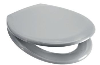 Euroshowers Light Grey Slow Close Quick Release Toilet Seat - Rainbow Series - extended hinge