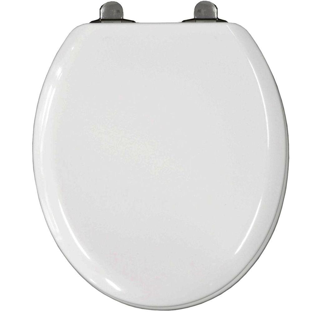 Bemis Elwood Top Fix Slow Close White Moulded Wood Toilet Seat - 5017cl