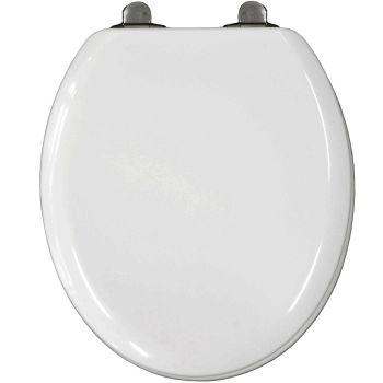 Bemis Michigan Top Fix Slow Close White Moulded Wood Toilet Seat - 5017cl