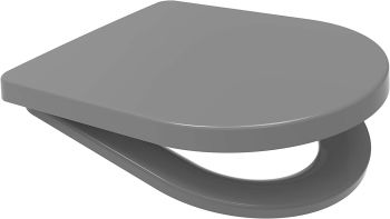 Euroshowers Middle D Style Grey Toilet Seat 449mm - 87312 OPEN BOX ITEM