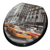 New York Print Moulded Wood Toilet Seat by Wirquin