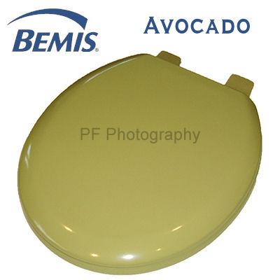 Bemis Avocado Moulded Wood Toilet Seat