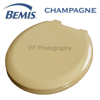 Bemis Champagne Coloured Moulded Wood Toilet Seats