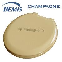 Bemis Champagne Coloured Moulded Wood Toilet Seats