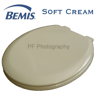 Bemis Soft Cream Colour Moulded Wood Toilet Seat