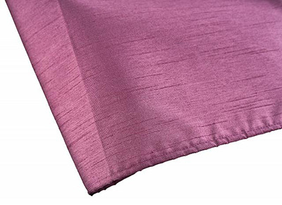 Damson Faux Silk Shower Curtain by Euroshowers