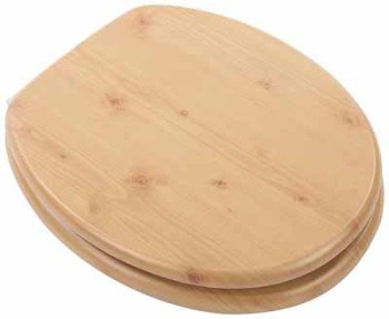 Pine Moulded Wood Toilet Seat
