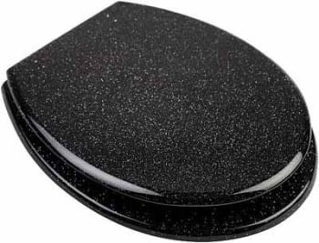 Euroshowers Black Coloured Glitter Toilet seats