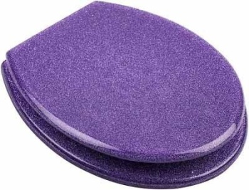 Purple Glitter Toilet seats By Euroshowers