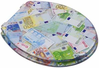 Euro Notes Print Resin Toilet Seat by Euroshowers