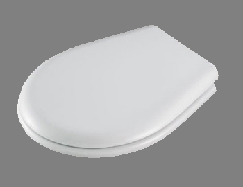 Portofino Toilet Seat in White by Carrara & Matta