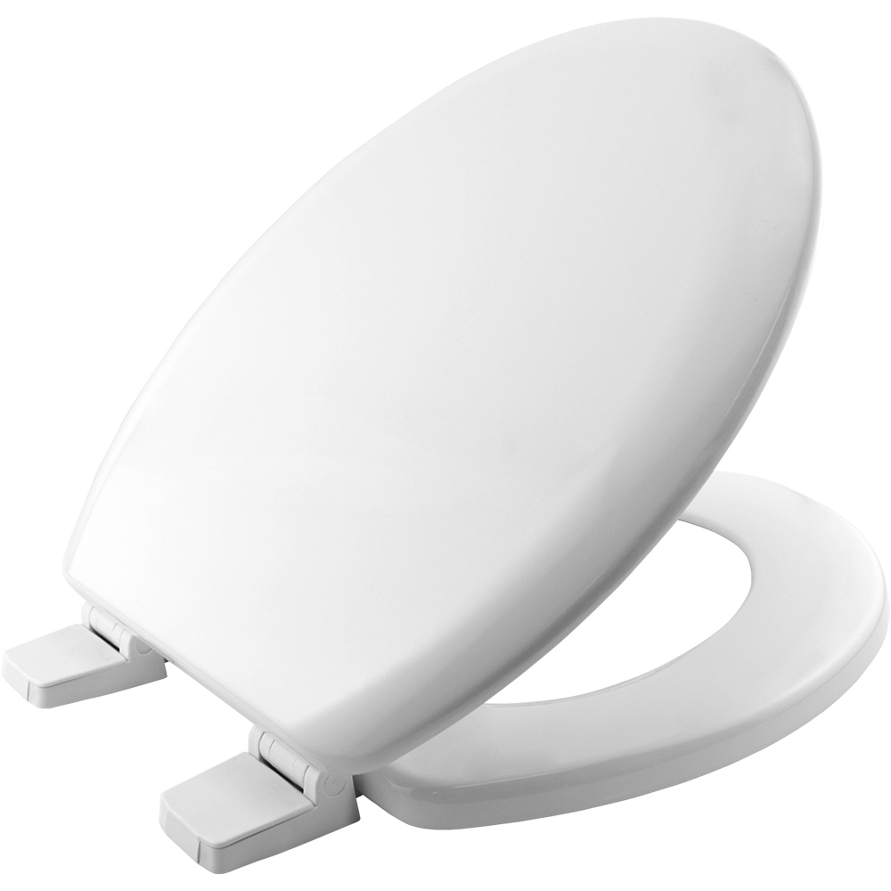 Bemis STA-TITE 5000WAR White Moulded Wood Toilet Seat