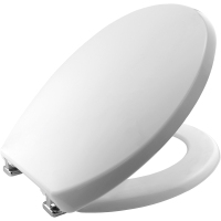 Sta-Tite Bemis Universal Toilet Seat with Chrome plate hinge.