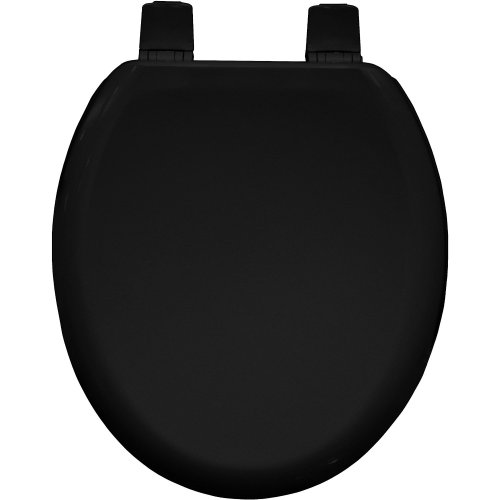 Bemis Black Colour Moulded Wood Toilet Seat with Sta tite hinge