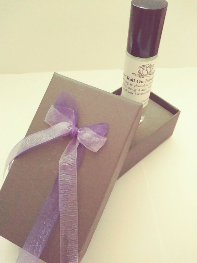 Lavender essential oil Roll On (10ml), boxed