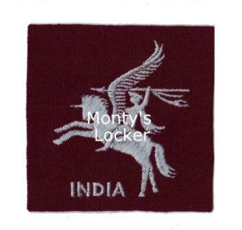 WW2 Pegasus India Arm Badge