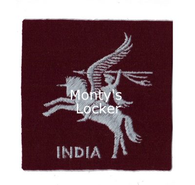WW2 Pegasus India Arm Badge