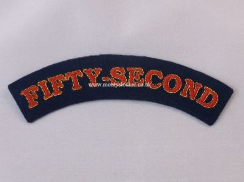 WW2 Fifty-Second (52nd) Shoulder Titles (Pair)