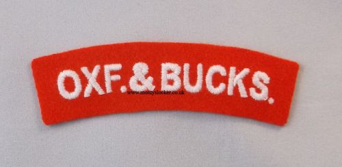 WW2 Oxf. & Bucks. Shoulder Titles (Pair)