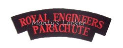WW2 Royal Engineers Parachute Shoulder Title