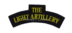 WW2 The Light Artillery Shoulder Title