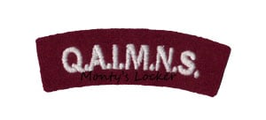 WW2 Q.A.I.M.N.S. Shoulder Titles (Pair)