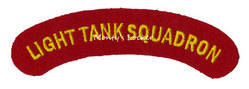 WW2 Light Tank Squadron Shoulder Title