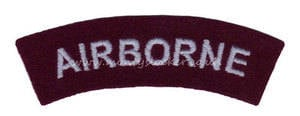 WW2 Airborne (Curved) Shoulder Titles (Pair)