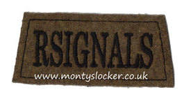 R Signals Black on Khaki Slip