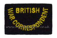 WW2 British War Correspondent Shoulder Titles (Pair)