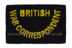 WW2 British War Correspondent Shoulder Title