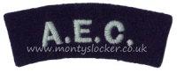 WW2 AEC Shoulder Titles (Pair)