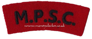 WW2 MPSC Shoulder Title