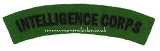 WW2 Intelligence Corps Shoulder Title