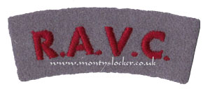 WW2 RAVC Shoulder Titles (Pair)