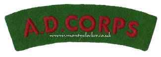 WW2 AD Corps Shoulder Title