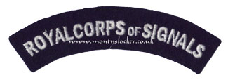 WW2 Royal Corps of Signals Shoulder Title