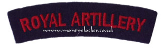 WW2 Royal Artillery (RA) Shoulder Title
