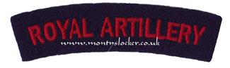 WW2 Royal Artillery (RA) Shoulder Titles (Pair)