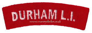 WW2 Durham L.I. Shoulder Titles (Pair)