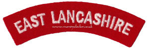 WW2 East Lancashire Shoulder Title