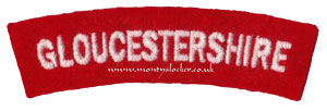 WW2 Gloucestershire Shoulder Title