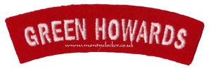 WW2 Green Howards Shoulder Title