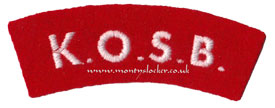 WW2 KOSB Shoulder Title