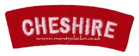 WW2 Cheshire Shoulder Titles (Pair)