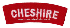 WW2 Cheshire Shoulder Title