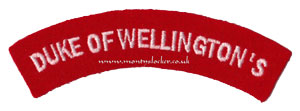 WW2 Duke of Wellington's Shoulder Titles (Pair)