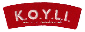 WW2 KOYLI Shoulder Title