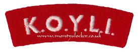 WW2 KOYLI Shoulder Titles (Pair)